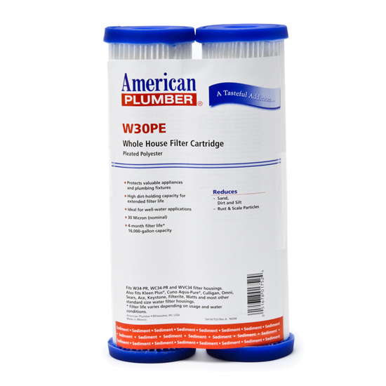 American Plumber W30PE Pleated Polyester Water Filters AMERICAN-PLUMBER-W30PE