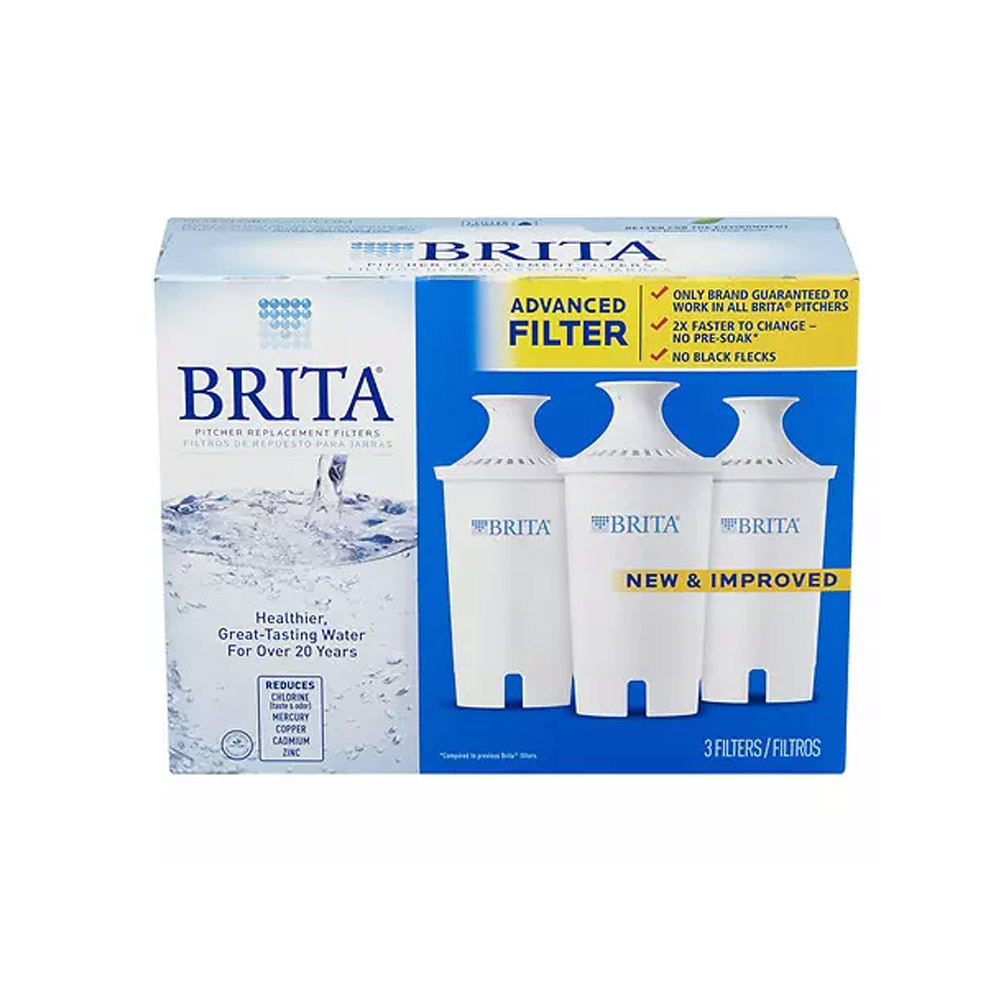Brita 35503 Water Pitcher Filter Replacement Cartridges (3-Pack) BRITA-PITCHER-FILTER-3PK