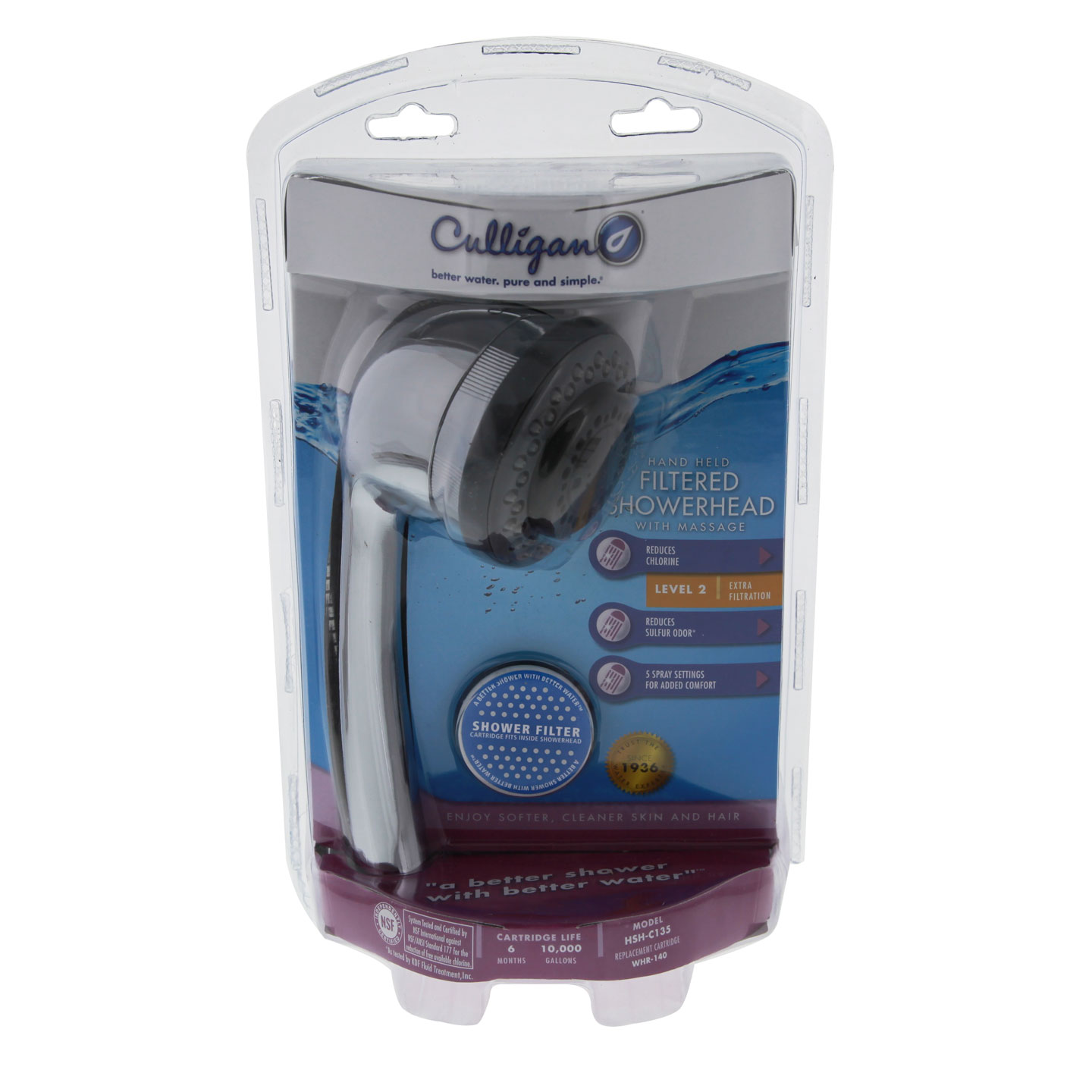 Culligan HSH-C135 Hand-Held Showerhead with Shower Filter CULLIGAN-HSH-C135