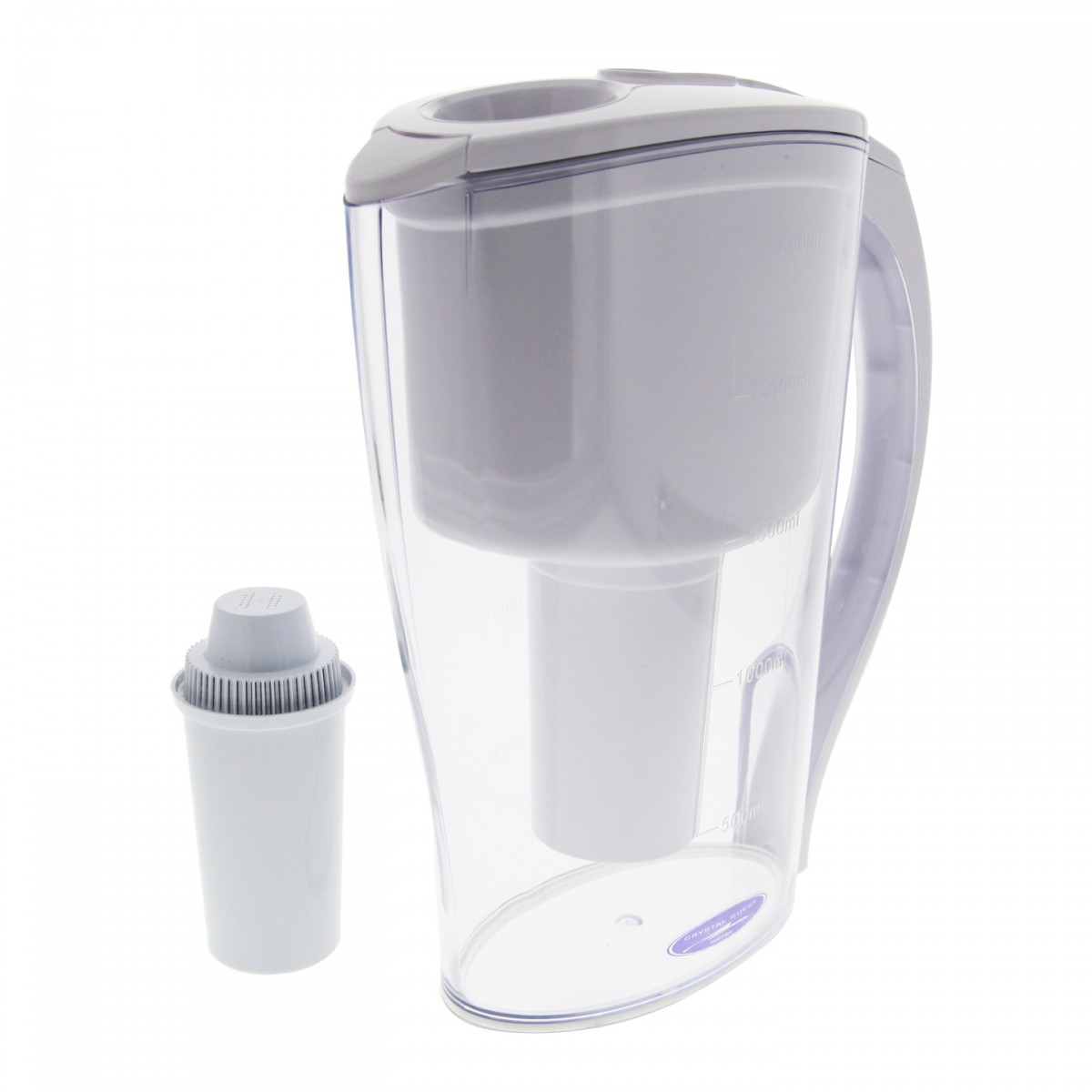 Crystal Quest Cqe Pi 00600 Clear Water Filter Pitcher