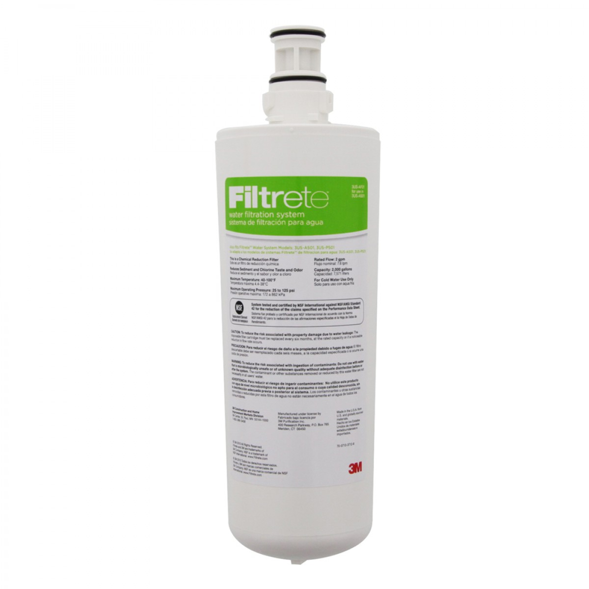 3m Filtrete 3us Af01 Replacement Water Filter For 3us As01