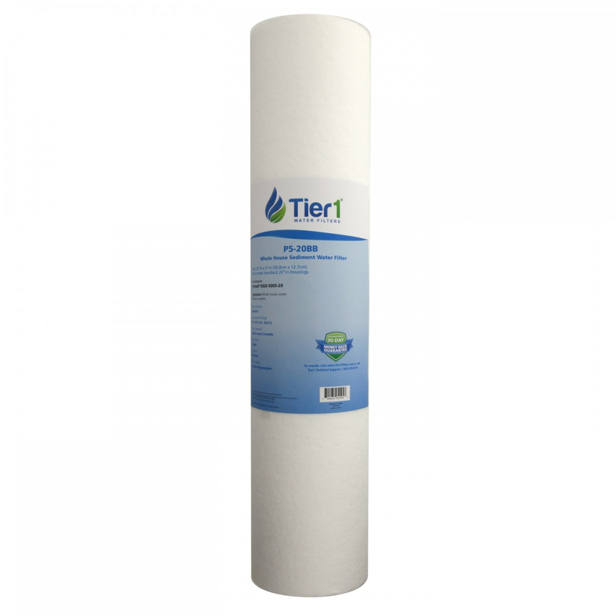 20 x 45 spun wound replacement filter by tier1 5 micron