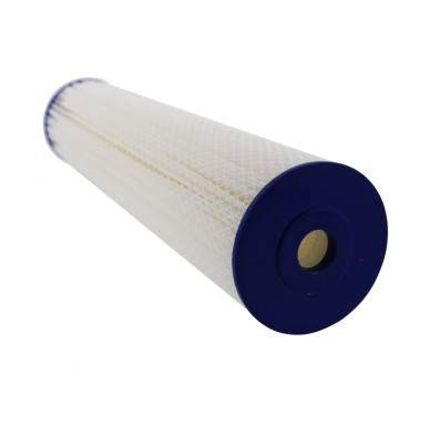Crystal Quest 4-5/8 in x 20 in, 5-Micron Sediment Reusable Pleated Filter Cartridge