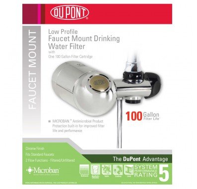 WFFM300XCH Low Profile Faucet Mount Drinking Water Filter System by DuPont