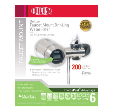 WFFM350XBN Deluxe Faucet Mount Drinking Water Filter by DuPont (Brushed Nickel)