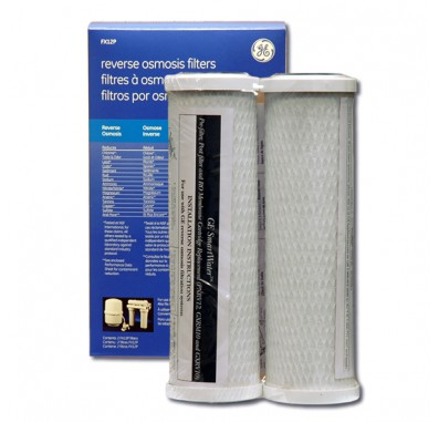 GE FX12P Carbon Pre and Post RO Filter (2-Pack)