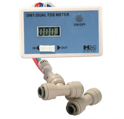 HM Digital DM-1 In-Line Dual TDS Monitor for In / Out Water Lines