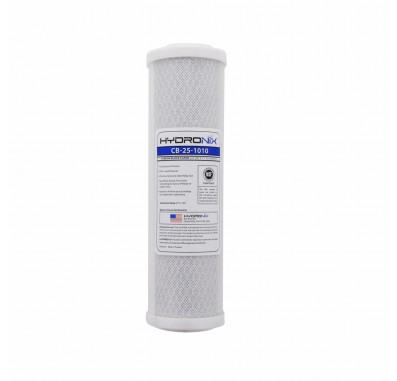 Hydronix CB-25-1010 Replacement Carbon Water Filter  10-inch x 2.5-inch (10 Micron)