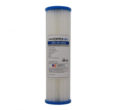 Hydronix SPC-25-1010 10-inch x 2.5-inch Pleated Sediment Water Filter 10 Micron