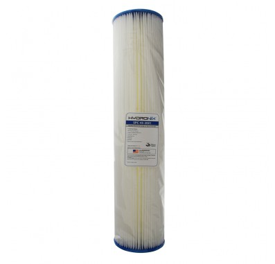 Hydronix SPC-45-2001 20-inch x 4.5-inch Pleated Sediment Water Filter 1 Micron