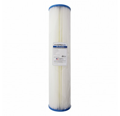 Hydronix SPC-45-2010 20-inch x 4.5-inch Pleated Sediment Water Filter 10 Micron