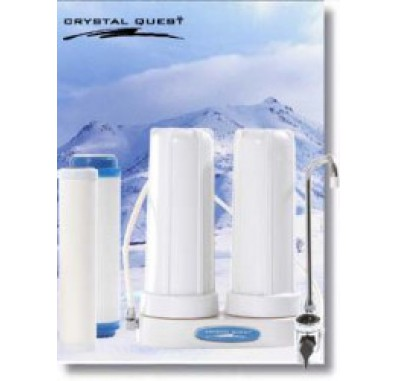 Crystal Quest Countertop Replaceable Double Ceramic Water Filter System