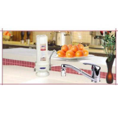 Crystal Quest Countertop Replaceable Single Fluoride/Multi Water Filter System