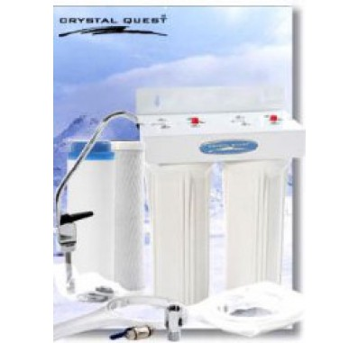 Crystal Quest Undersink Replaceable Double Multi PLUS Water Filter System