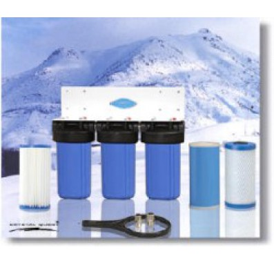 Crystal Quest Whole House Triple 10 in x 5.0 in Water Filter System