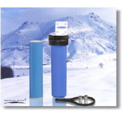 Crystal Quest Whole House Single 20 in x 5.0 in Water Filter System