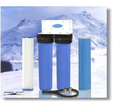 Crystal Quest Whole House Double 20 in x 5.0 in Water Filter System
