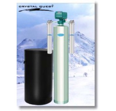 Crystal Quest Whole House Softener 1.5 Water Filter System (Stainless Steel)