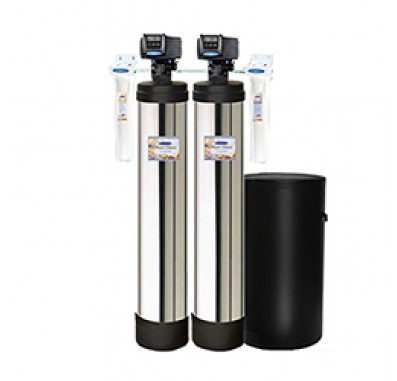 Crystal Quest Whole House Multi/Nitrate 1.5 Water Filter System (Stainless Steel)