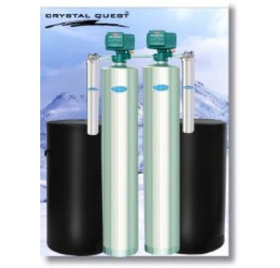 Crystal Quest Whole House Softener/Nitrate 1.5 Water Filter System (Stainless Steel)