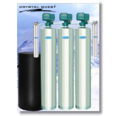 Crystal Quest Whole House Multi/Softener/Arsenic 1.5 Water Filter System (Stainless Steel)