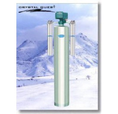 Crystal Quest Whole House Fluoride 1.5 Water Filter System (Stainless Steel)
