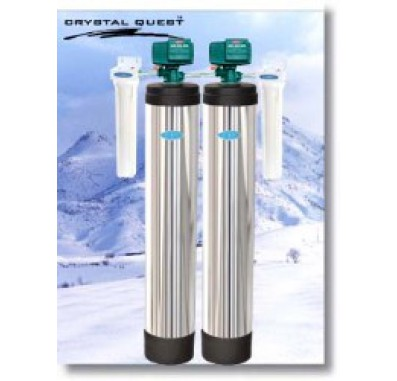 Crystal Quest Whole House Multi/Manganese, Iron, Hydrogen Sulfide 1.5 Water Filter System