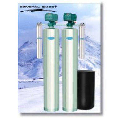 Crystal Quest Whole House Multi/Iron,Hydrogen Sulfide 1.5 Water Filter System (Stainless Steel)