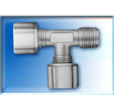 FCMRT7566 - 3/8-Inch Tube x 3/8-Inch Tube x 3/8-Inch NPT Male Run Tee Compression Connector
