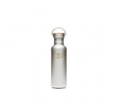 K27SSLRF-BS Klean Kanteen Reflect Stainless Steel Water Bottle with Bamboo Cap - Brushed Finish (27 oz)