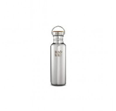 K27SSLRF-MS  Klean Kanteen Reflect Stainless Steel Water Bottle with Bamboo Cap - Mirrored Finish (27 oz)