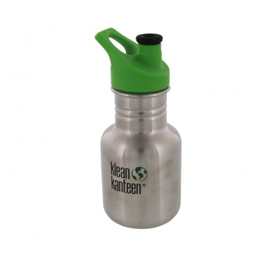 K12PPS Klean Kanteen Stainless Steel Water Bottle with Sport-Top (12oz)
