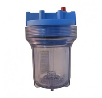 Pentek 158110 3/8-Inch #5 Clear/Blue Water Filter Housing