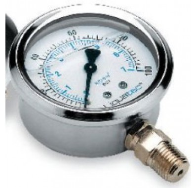 Pressure Gauge 0-100 PSI with 1/4 Inch lower mount