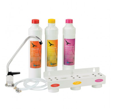 Watts WQCFU-T-KIT Triple Drinking Water System with Kwik-Change Cartridges
