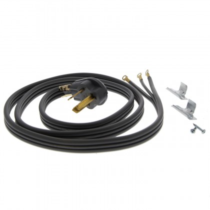 6-Foot Gray 30 amp 3-Prong Range Power Cord by Tier1