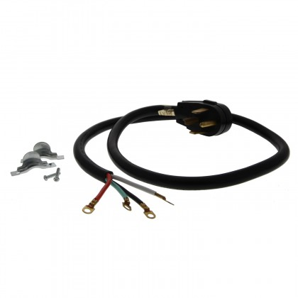 Black 30 amp. 4-Prong Dryer Power Cord by Tier1 (4-feet)