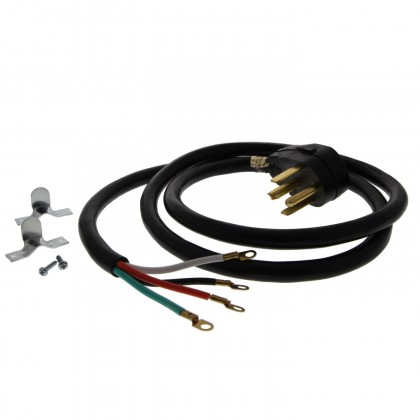 6-Foot Black 30 amp 4-Prong Dryer Power Cord by Tier1