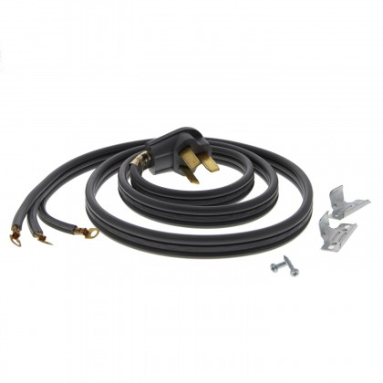6-Foot Gray 40 amp 3-Prong Range Power Cord by Tier1