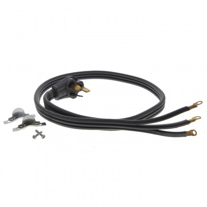 4-Foot Black 50 Amp 4-Prong Range Power Cord by Tier1