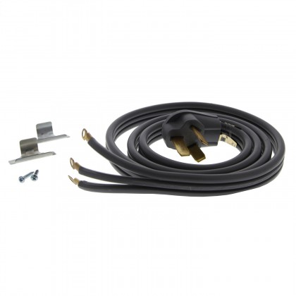 6-Foot Gray 50 amp 3-Prong Range Power Cord by Tier1