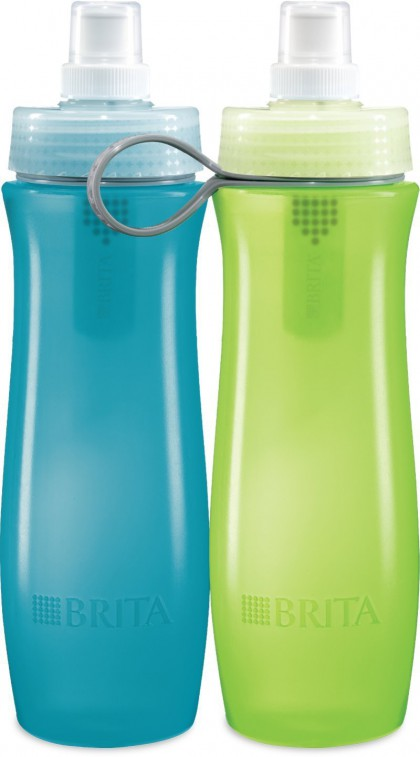 Brita 35559 Water Filter Bottles Blue & Green 20 oz - 2 Pack