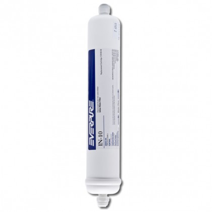 Everpure IN-10 Inline Water Filter (1/4-Inch FPT or 1/4-Inch FQC)