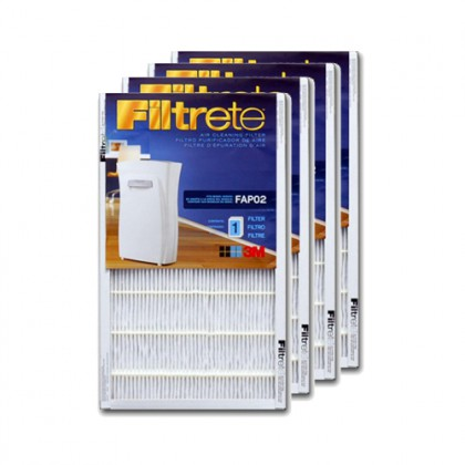 Filtrete FAPF02-4 Ultra Clean Air Purifier Replacement Filter (4-Pack)