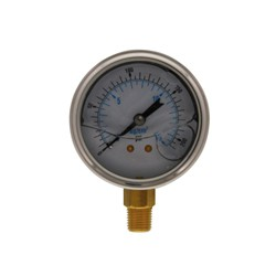 PG15L25 Pressure Gauge 0-200 PSI with 1/4-Inch Lower Mount