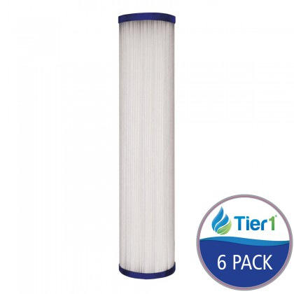Hydronix SPC-25-1005 Comparable Pleated Sediment Water Filter by Tier1 (6-Pack)