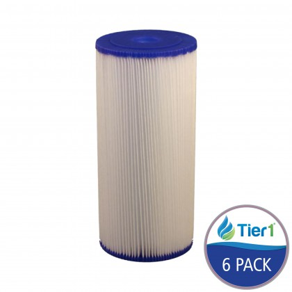SPC-45-1020 Comparable Hydronix Pleated Sediment Water Filter 20 Micron by Tier1 (6-Pack)