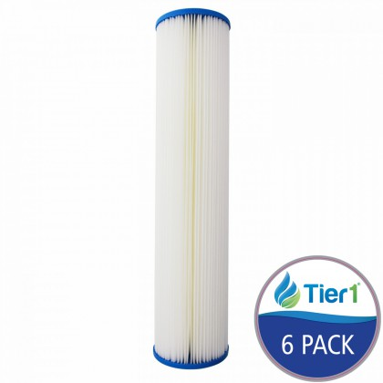 SPC-45-2020 Comparable Hydronix Pleated Sediment Water Filter by Tier1 (6-Pack)