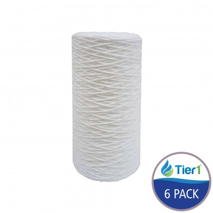 Hydronix Comparable 10x 4.5 Inch String Wound Sediment Water Filter by Tier1 (20 micron)