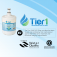 Tier1 Whirlpool 8171413/8171414 Refrigerator Water Filter Replacement (Chart 1)